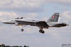 Swiss Air Force --- McDonnell Douglas F/A-18C Hornet --- J-5005 (Drinu C) Tags: plane aircraft military sony s hornet f18 douglas dsc ffd fairford mcdonnell riat fa18c swissairforce egva j5005 hx100v adrianciliaphotography