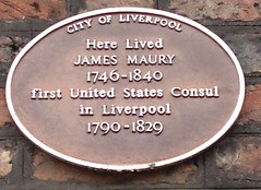 """City of Liverpool Heritage Plaque James Maury • <a style=""""font-size:0.8em;"""" href=""""http://www.flickr.com/photos/9840291@N03/14836534971/"""" target=""""_blank"""">View on Flickr</a>"""