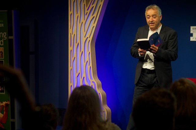 Frank Cottrell Boyce reads on stage