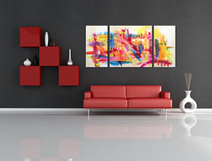 red and black lounge (Natso, artist painter) Tags: red italy black home horizontal modern relax design living floor furniture contemporary interior room lounge creative lifestyle style plaster livingroom couch sofa domestic cube sit vase comfort shelves minimalist