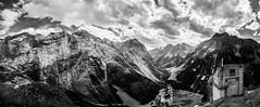 (Florian SEBASTIEN) Tags: bw mountain alps montagne alpes canon blackwhite noiretblanc panoramica tribute hommage savoie anseladams panoramique pralognan vanoise pralognanlavanoise