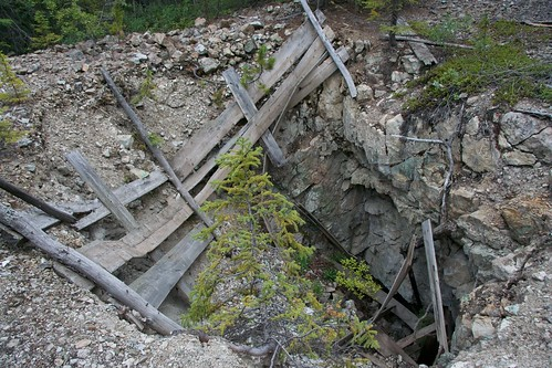 Copper mine shaft