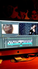 Editing the fashion film with the Three Stooges. (Mondomac) Tags: film actors modeling models acting movies shooting behindthescenes filmmaking bts onset