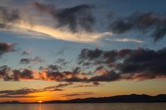 Cabo Home y Cies (dfvergara) Tags: sunset espaa sun sol azul clouds contraluz atardecer mar agua cloudy galicia cielo nubes ria vigo cies cabohome riadevigo morrazo