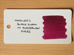 Noodler's Black Swan in Australian Roses - Word Card
