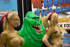 ghostbusters. wizard world comic con. chicago august 2014 (timp37) Tags: world ladies girls summer woman chicago illinois comic wizard august rosemont con ghostbusters slimer 2014