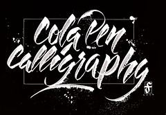 Cola pen calligraphy