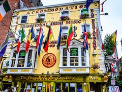 The Oliver St. John Gogarty Bar and Pub - Temple Bar Dublin Ireland (mbell1975) Tags: ireland dublin irish st yellow bar john temple restaurant pub europe oliver flag flags irland eire na irlanda irlande the ire gogarty poblacht airlann hireann