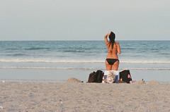 Beach Girl (GOJR.) Tags: film beach analog nikonfe nikon10525 kodakektar100