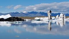 black & white ice (PacotePacote) Tags: reflection ice iceland islandia iceberg hielo vatnajkull