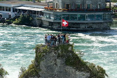 The Rock (Bephep2010) Tags: rock river schweiz switzerland waterfall wasserfall minolta sony schaffhausen alpha fluss rhine rhein 77 felsen rheinfall 70200mm neuhausen rhinefalls neuhausenamrheinfall 2682118 slta77v