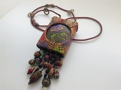 (Julia Potemkina) Tags: fairytale vintage beads bell carving polymerclaynecklace backfeeling