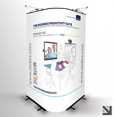 Printed Curve Display (Better Printing) Tags: design banner business event printing designprint displaystand exhibitionstand