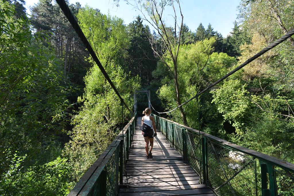 The bridge into the Gorge Park
