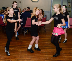 Step Dancers Doing Ceili Dancing