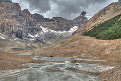 Hilda Creek Upstream - Banff Park (John Payzant) Tags: canada mountains creek landscape glacier alberta banff hdr hilda