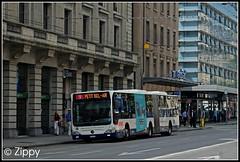 Fresh Prince of 'Bel-Air' (Zippy's Revenge) Tags: travel bus mercedes switzerland geneva transport 9 mercedesbenz tpg bendybus unireso citaro 1164 transportspublicsgenevois petitbelair ge960914