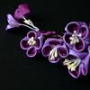 purple lilac 04 (Bright Wish Kanzashi) Tags: flower handmade silk lilac clasic tsumami kanzashi hairornament lilachairwreath