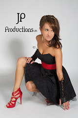 Anusia In The Studio (Jigsaw-Photography-UK) Tags: red brown black girl hair belt model shoes dress heels jpproductionsuk