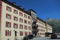 Hotel Glacier du Rhone (Riex) Tags: alps building alpes hotel schweiz switzerland suisse pass svizzera wallis col valais batiment furka gletsch s95 canonpowershots95 hotelglacierdurhne