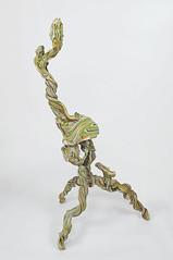 Soothsayer (Daniel Wiener) Tags: sculpture color art heads twisted 2014 contemporarysculpture apoxiesculpt