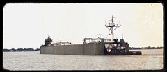 Barge ASHTABORE And The Tugboat DEFIANCE. (C) (Warren Erickson 54880) Tags: minnesota tugboat lakesuperior barge defiance duluthmn 2014 stlouisriver duluthminnesota warrenerickson ashtabore