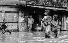 view (Ashraful Tareq) Tags: water girl blackwhite aqua flood ash hq bangladesh tareq mymensingh ashraful