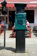 Streetart Miscellaneous 1848 (cmdpirx) Tags: street portrait urban color colour art public cutout painting fun graffiti chalk nikon paint artist 7100 quote d space raum kunst strasse tag hamburg humor can brush que spray crew marker hh aerosol tagging farbe spruch kreide ffentlicher kuenstler