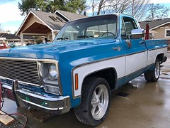 1979 Silverado Big Block V8 - 02 (Alan Taylor - ERN) Tags: alantaylor ern 2017 1979 silveradoc10 bluepickup forsale pickup 454bigblockv8 shortbed chevy chevrolet