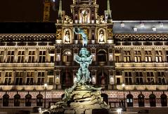Antwerpen stadhuis (Stijn Daniels) Tags: antwerpen antwerp stadhuis cityhall brabo grotemarkt grote markt longexposure night canon rebel 600d