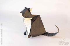 Fumiaki Kawahata - Cat (IverRu) Tags: iver kawahata cat animal origami кошка животное оригами