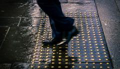 Button Moon..Walk !! (Gordon McCallum) Tags: pedestrian pavement sidewalk shinyshoes blackshoes bluetrousers brassbuttons wetpavement renfieldstreet glasgow glasgowcitycentre scotland sony sonya6000