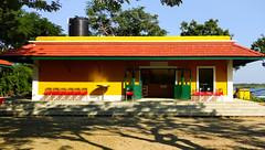 Cafe in Chunnambar Boat House (Rebellion Rider) Tags: chunnambarboathouse pondicherry india delhi rebellionrider canont3i canon600d sony a500 yellow sunshine beautiful house architecture