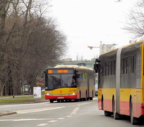 "Solaris Urbino 18 III, #A-738, ""Mobilis"" Mościska dept Warsaw"