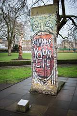 Change your life (Mister Rad) Tags: nikond600 nikon50mmf14g london lambeth imperialwarmuseum wall streetart berlinwall history