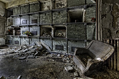 No Excuses (Frank C. Grace (Trig Photography)) Tags: mausoleum crypt grave graves buried keep death coffins coffin abandoned urbex urbanexploration decay rusty fallingapart cemetery building d810 nikon creepy spooky marble remains mortal trigphotography frankcgrace wideangle