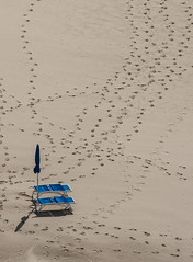 The Perfect Human (massimiliano) Tags: theperfecthuman omaggioalarsvontrier concetti orme spiaggia ombrellone atributetolarsvontrier concepts footsteps beach umbrella