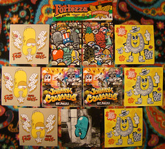 Pack from Rockaway Bear - 06/11/2014 (Mr. MumbleJinx) Tags: streetart art stickerart stickers rockawaybear