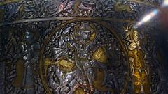 ibn al-Zain, Basin, detail with hunter (close) exterior frieze