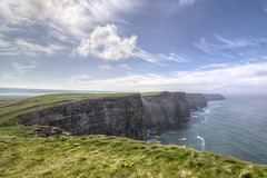 Cliffs of Moher - County Clare (Gareth Wray - 13 Million Views, Thank You) Tags: ocean county ireland sunset sea vacation sky irish sun holiday seascape tower galway beach nature parish set strand way lens wonder coast nikon rocks europe clare day photographer natural cloudy head doolin scenic visit tourist cliffs atlantic granite burren hd geology nikkor scape gareth hdr moher wray liscannor mohor strabane tonemapped cliffscape 1024mm cloghaun d5300 o'brien's knockardakin hdfox