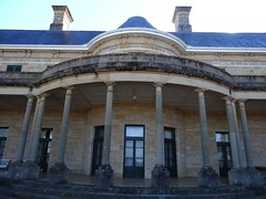 Central curved part of the facade of Jimbour mansion near Dalby Queensland. (denisbin) Tags: architecture french stonework queensland outback rounded dalby darlingdowns jimbour