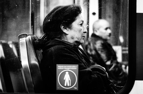 Black and white visions in the metro