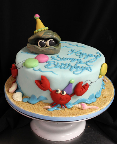 Clam Birthday Beach Cake