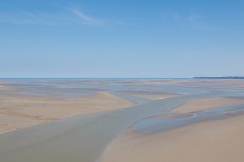 Au mont Saint-Michel à marée basse