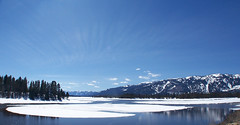 Cascade Reservoir in thaw (kelly.belle1) Tags: mountain lake snow landscape idaho thaw cascadereservoir infinitexposure