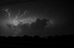 Summer Storm (kmrowe4) Tags: bw storm nature weather clouds lightning athensga nikond7000