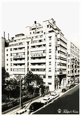 Lotus Hotel - Soliman Pasha St. in 1950 (Tulipe Noire) Tags: africa street building hotel lotus egypt middleeast cairo 1950s egyptian 1950 pacha soliman