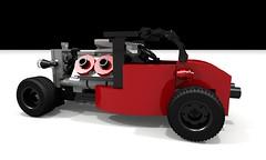Hot Rod (hajdekr) Tags: car toy model automobile lego hotrod vehicle sportscar racer ldd legodigitaldesigner