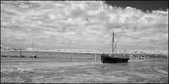 Pinmill IR 5 (barrycross) Tags: uk summer england suffolk midsummer mud houseboat estuary solstice shore infrared barge tender dinghy eastanglia riverorwell pinmill wherry rowingboats barrycrossphotography wwwbarrycrossphotographycom