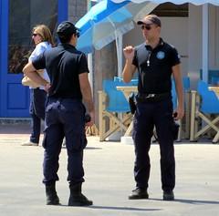 2014-060829 (bubbahop) Tags: port police santorini greece policeman 2014 athinios europetrip30